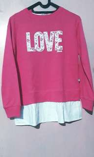 Love lace sweater magenta