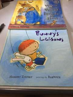 Book Bundle - Bunny's Lesson and When the world is ready for bed