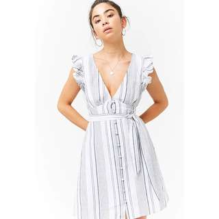 Forever 21 Linen Striped Dress