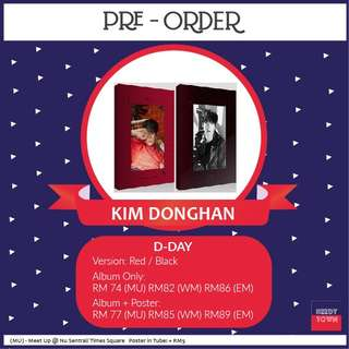 (PRE-ORDER) KIM DONGHAN - D-DAY