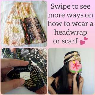 Boho Headwrap or Scarf