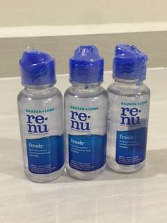 Renu Contact Lens Solution Small Bottle