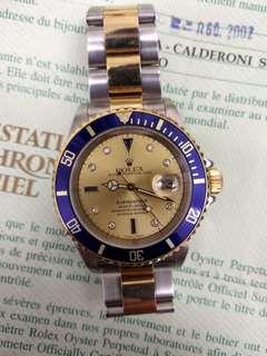 劳力士Rolex submarine 16613 全面藍寶石字