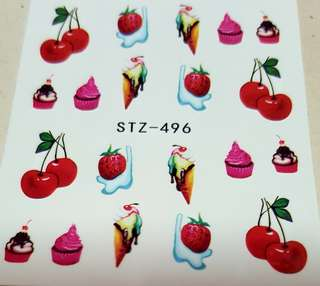 Fruit's Day! Water Nail Art Sticker
