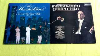 MANHATTANS . forever by your side ● MANTOVANI . golden hits 1 ( buy 1 get 1 free )  vinyl record