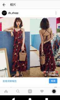 沙灘裙,長裙,吊帶裙