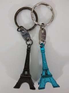 2 Eiffel Tower Key Chain