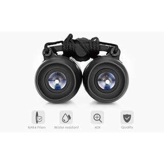 BIJIA 40X22 2000M / 20000M HD Vision Folding Binocular