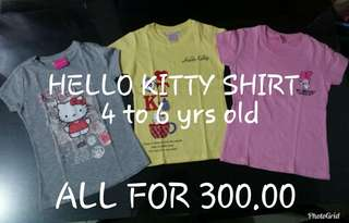 Preloved HELLO KITTY SHIRT