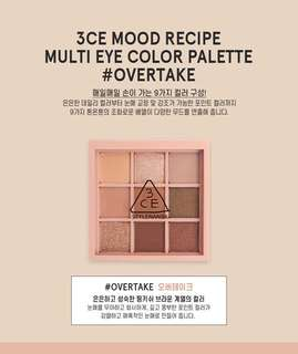INSTOCKS 3CE Mood Recipe Multi Eye Color Eyeshadow Palette #OVERTAKE