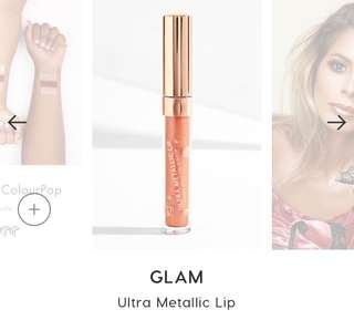 [INSTOCK BNIB] COLOURPOP GLAM ULTRA METALLIC LIP