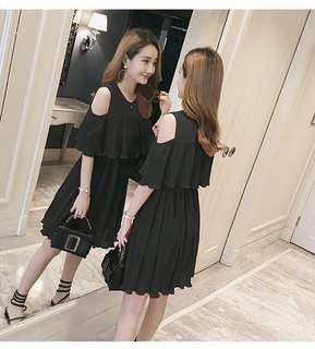 Brand New Black Chiffon Nursing Dress