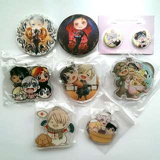 Yuri on Ice Merchandise Button Badges, Keychains, Posters, Fanzine, Doujinshi & Tote Bag