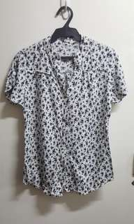 Unbranded printed white blouse