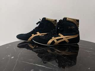 ASICS TIGER HIGH TOPS BLACK AND GOLD UNISEX
