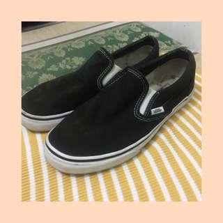 Authentic Vans Black Slip-ons