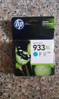Authentic HP Ink Cartridge Offcejet 933XL Cyan