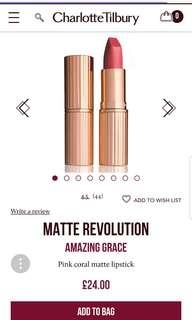 Charlotte Tilbury Matte Revolution Amazing Grace