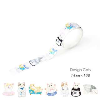 ☙🖃 📝 [PREORDER] Themed Diary Cats Decoration Washi Tape Stickers [100 inserts]