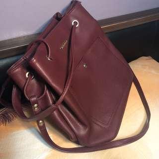 2 way shoulder and sling bag