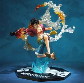 [PO] Inspired Monkey D. Luffy Red Hawk One Piece Anime Figurines Figure