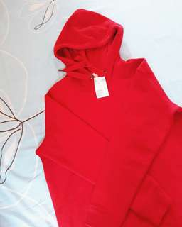 Brand New H&M Long Red Hoodie