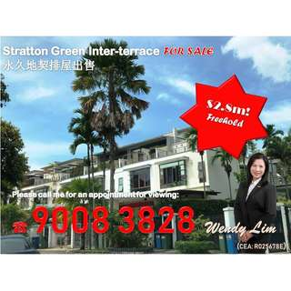 Stratton Drive 3-storey Freehold inter-terrace For Sale