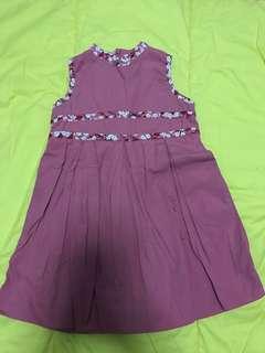 Pink chinese collar dress