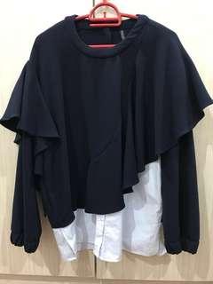 Zara ruffled blouse