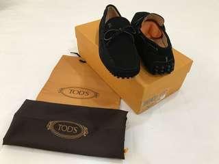 🚚 全新品 TOD'S 豆豆鞋 黑色麂皮 男尺寸4/女尺寸38