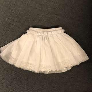 Baby girl White Tutu Skirt