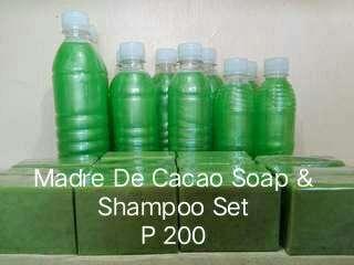 Madre de cacao soap and shampoo