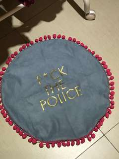 F*ck the Police pillow case (circle)