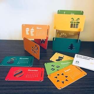 Starbucks 2015 Build Your Own 3D Calendar
