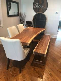 Gorgeous live edge wooden dining set