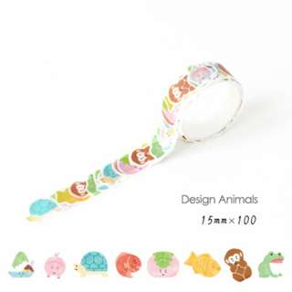☙🖃 📝 [PREORDER] Themed Diary Animals Decoration Washi Tape Stickers [100 inserts]