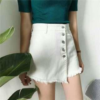 White Ulzzang Skirt [PRE-ORDER]