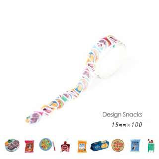 ☙🖃 📝 [PREORDER] Themed Diary Snacks Decoration Washi Tape Stickers [100 inserts]