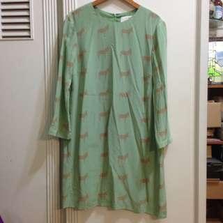 古著*驢子粉綠洋裝