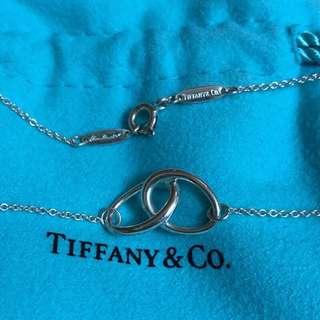 保證真品 Tiffany 純銀 小 雙環 項鍊 項鏈 蒂芬妮 經典款式 二手 正品