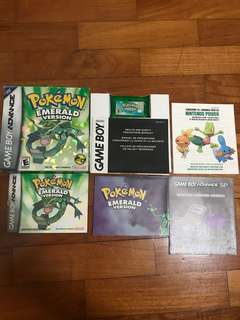 Pokemon Emerald With Box And Manuals (GBA Gameboy Advance)
