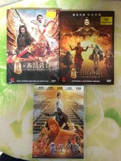 DVD Movies - Monkey King 1 to 3 (Aaron Kwok)