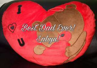REPRICED! BN Huggable ❤️-shape Bear Pillow on Father's Day
