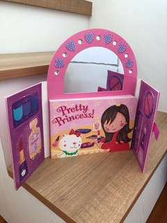 Pretty princess (doll and dress up book)