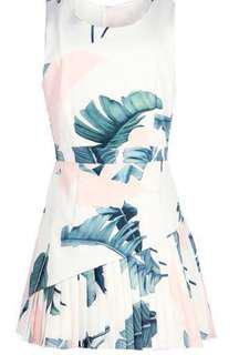 The Closet Lover TCL inspired floral pleated hem dress in white