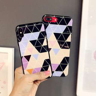 🌼C-1035 Geometric Figure IMD Case for iPhone🌼