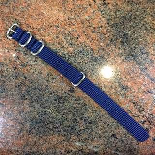 Asprey 18mm ZULU Strap Navy Blue