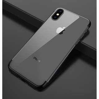 Black Simple Elegant Transparent iPhone Case 5/5s/5se 6/6s 7/8 plus X