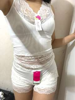 Lingerie singlet & shorts