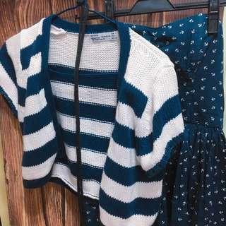 一套$218(Jack wills tube dress + Zara sweater)
